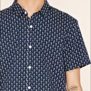 Forever 21 Men slim fit flamingo print shirt